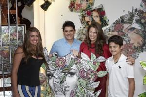 Cesar Filho com Elaine e família